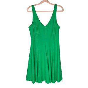 Amanda Uprichard x GB Green Knit Skater Dress